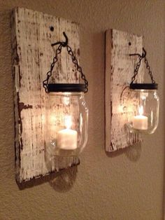 Love this Mason jar candle holders www.MadamPaloozaE... www.fb.com/......