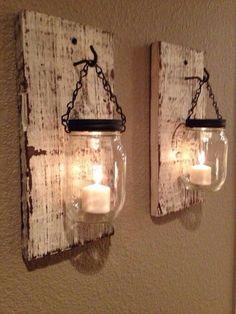 Love this Mason jar candle holders www.MadamPaloozaE... www.fb.com/......