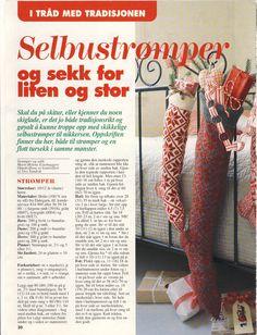 Oppskrift på Selbustrømper og sekk (Side 1)  10-12 år og Dame
