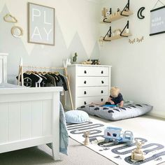 So much love for this beautiful room by @myhomestyle89 which includes our OYOY Adventure Rug  I hope you all had a lovely long weekend. Why can't we please have a 3:4 week every week? Wouldn't it be amazing?  w w w . m i l k t o o t h . c o m . a u