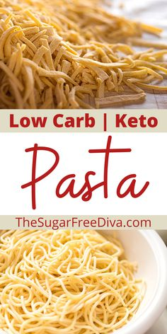 This is how to make a low carb pasta. An easy recipe that is keto and gluten free diet friendly.  This recipe for keto low carb pasta is easy to make. Simple ingredients to make a pasta that is friendly to the keto low carb diets for dinner, lunch, or anytime! Wheat Pasta Recipes, Creamy Pasta Recipes, Delicious Dinner Recipes, Great Recipes, Favorite Recipes, Beef Recipes, Low Carb Recipes, Low Carb Noodles, Low Carb Lunch