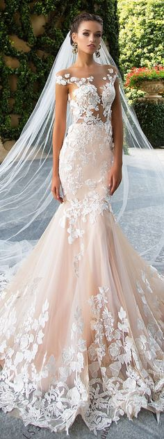 sexy wedding luxury long sleeves evening appliques mermaid stunning sexy Wedding Dress off shoulder Paige bridal dress - Wedding Gowns Platform Backless Wedding, Sexy Wedding Dresses, Bridal Dresses, Prom Gowns, Dresses Dresses, Beige Wedding Dress, Modest Wedding, Trendy Wedding, Wedding White