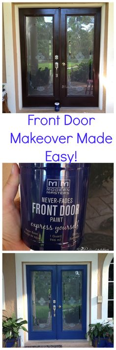 Front Door Makeover Made Easy using Modern Masters Front Door Paint