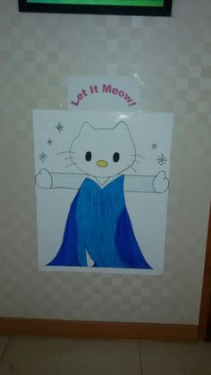 Pin the hair on Hello Kitty Elsa! (Made by yours truly)