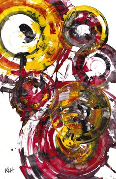 Contemporary Art - Abstract Painting - Modern Art - Rich Round Red Spherical Joy -- on Luulla Abstract Expressionism, Abstract Art, Painting & Drawing, Ship Drawing, Contemporary Paintings, Art Oil, Painting Inspiration, Les Oeuvres, Amazing Art