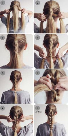 – 25 Easy Hairstyles for long hair Related posts: An Easy Twist – Wedding Hairstyles for Medium Length Hair 23 Quick and Easy Braids for. Easy Hairstyles For Long Hair, Box Braids Hairstyles, Short Hairstyles, Natural Hairstyles, Workout Hairstyles, Everyday Hairstyles, Haircuts, Mexican Hairstyles, Ponytail Hairstyles Tutorial