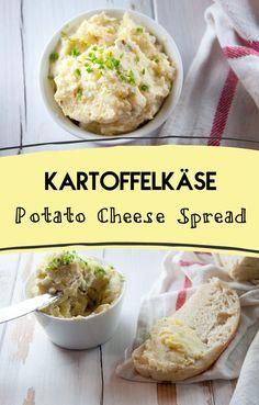 #vegan traditional German/Austrian Kartoffelkäse / Potato Cheese Spread from ElephantasticVegan.com