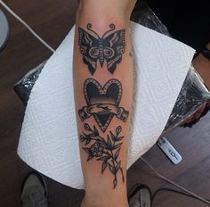 Traditional style tattoos #handshake #butterfly #tattoo