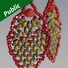 Pinecone Earrings Using SuperDuo Beads