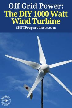 A 1000 watt wind turbine can provide great power for any home. This turbine helps charge the battery bank that powers our off grid home. Renewable Energy, Solar Energy, Solar Power, Off Grid System, Solar Generator, Water Turbine Generator, Wind Power Generator, Off Grid Solar, Off The Grid