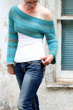 New pattern now available on Etsy!  Crop Top Sweater Knitting Pattern - Clarity