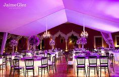 ♥ purple wedding set up at the hacienda chichi suarez in #Merida #yucatan #mexico. Boda organizada por Six Sens.