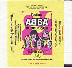 1976 Allens & Regina Abba Bubblegum Cards Wrapper - New Zealand Collectible Cards, Kiwiana, Stage Set, Chewing Gum, Picture Cards, Bubble Gum, Childhood Memories, New Zealand, Bubbles