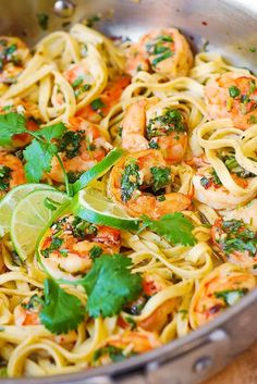Cilantro-Lime Shrimp Pasta
