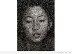 String Art Portraits by Kumi Yamashita 2