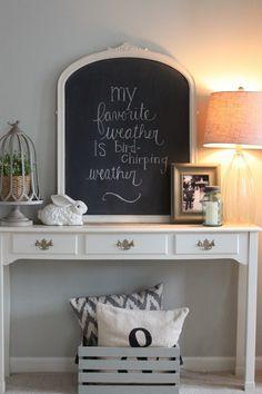 decorating for spring via housebyhoff.blogspot.com