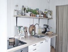 My nordic summer cottage kitchen. Happy Evening, Do What You Like, First Kitchen, Big Houses, Kitchen Cart, Cottage, In This Moment, Summer, Freedom