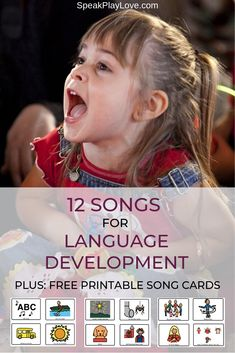 movement songs for toddlers that focus on language development perfect for circle time songs and speech therapy free printable song choice cards - The world's most private search engine Preschool Songs, Toddler Learning Activities, Speech Therapy Activities, Language Activities, Infant Activities, Speech Therapy Ideas For Kids, Speech Language Therapy, Music Therapy, Speech And Language