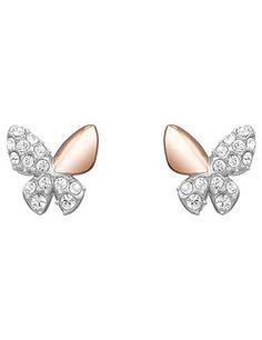 4c07b0d5a SWAROVSKI BETTER BUTTERFLY PIERCED EARRINGS 5074336 | Duty Free Crystal  Black Stud Earrings, Screw Back