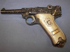 Rumor has it this German Luger may have once belonged to Pancho Villa in the 1920's. Whether or not that is true, it is an outstanding example of German engraving. Artist unknown.