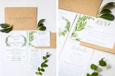 Rustic Greenery Wedding Invitation