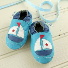 boat soft leather baby shoes by snuggle feet | notonthehighstreet.com