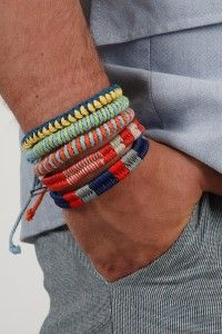 I love colored friendship bracelets. Want some for my hair as ties.