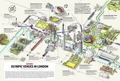 London Olympic Venues Map by Katherine Baxter and Steven Potter of LondonTown