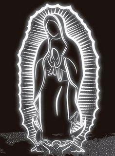La Virgen de Guadalupe~Madrecita Neon art