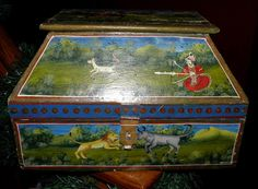 Antique Rare 19th century Asian Hand Painted by TheDecoHotel, $189.99