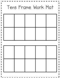 Help your students organize their manipulatives or drawings into 10s frames when adding or subtraction. These can be laminated and students can use whiteboard markers on them.