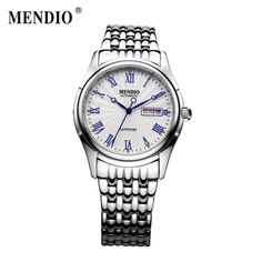Find More Business Watches Information about MENDIO Original Design Fashion Luxury Brand Mens Steel Watch Automatic Mechanical Male Watches With Calendar Father Gift 1002,High Quality watch colors,China watches men fashion Suppliers, Cheap watches men and women from China wristwatches on Aliexpress.com