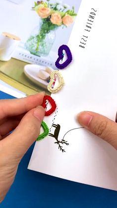 Diy Crafts Hacks, Diy Crafts Jewelry, Diy Crafts For Gifts, Wire Crafts, Diy Arts And Crafts, Creative Crafts, Fun Crafts, Paper Crafts Origami, Flower Crafts
