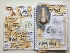 GCSE art exam mind map, my topic is the human figure Saba.k<br> A Level Art Sketchbook, Sketchbook Layout, Sketchbook Ideas, Mind Map Art, Mind Maps, Creative Mind Map, Mind Map Design, A Level Textiles, Map Layout