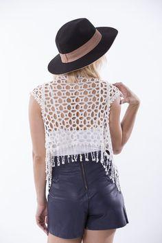 Crochet Waistcoat, Crochet Top, Collection, Tops, Women, Fashion, Moda, Fashion Styles, Fashion Illustrations