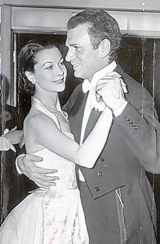 Lord and Lady Olivier dance together