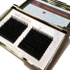When these Volume Multi-Length lashes are fanned it's AMAZING to see how feathered and natural the set looks!