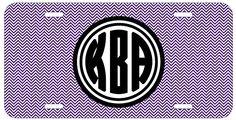 Personalized Monogrammed Chevron Purple Black Bold License Plate Auto Tag Top Craft Case http://www.amazon.com/dp/B00N024ZBU/ref=cm_sw_r_pi_dp_tvotub0VFKAPN