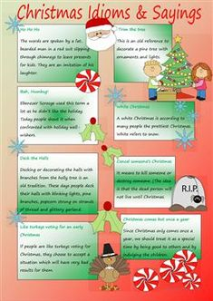 Christmas Idioms & Sayings