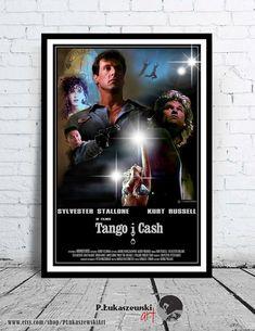 TANGO & CASH - cult / classic alternative movie poster / print [ Sylvester Stallone Kurt Russell Teri Hatcher Jack Palance Brion James ] and