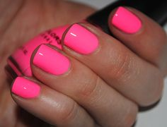 Highlighter Neon Pink Nail Polish (without needing a white base coat)