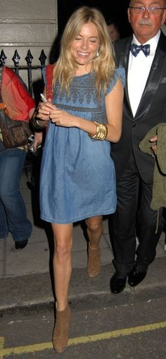 Sienna Miller - Isabel Marant chambray dress