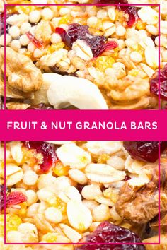 Fruit and Nut Granola Bars | Madhava