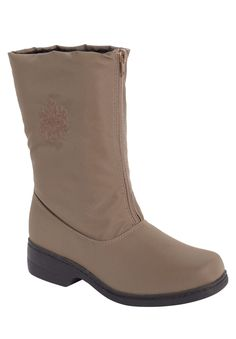 Plus Size Snowflake water-repellent wide-calf boot by Comfortview® | Plus Size Cold Weather Boots | One Stop Plus