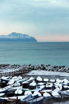Corso Italia, foto di Marcello Terruli. La neve a #Genova.