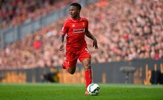 Raheem Sterling of Liverpool in action during the Barclays Premier League match between Liverpool and Crystal Palace at Anfield on May 16, 2015 in Liverpool, England