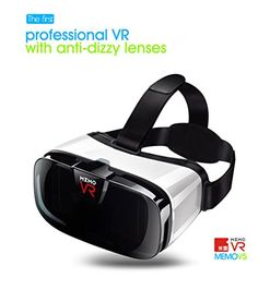 V5 3D VR Glasses Virtual Reality Headset With Transparent Cover Antidizzy Dizzy Design Work for Android iOS Smartphones 4563 inch >>> Check this awesome product by going to the link at the image.Note:It is affiliate link to Amazon.