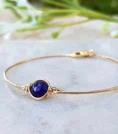 Blue Sapphire Bracelet,Wife Gift,Natural Gemstone Bracelet,Sapphire Jewelry,September Birthstone,Blue Sapphire Jewelry,Birthday Gifts