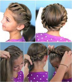How To Do Cute Crown Rope Twist Hair Braid Updo Hairstyles 1