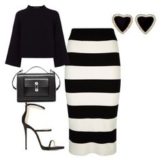 """""""Work outfit"""" by trendyysoul1 ❤ liked on Polyvore featuring Milly, Giuseppe Zanotti, Balenciaga, Jaeger, women's clothing, women, female, woman, misses and juniors"""